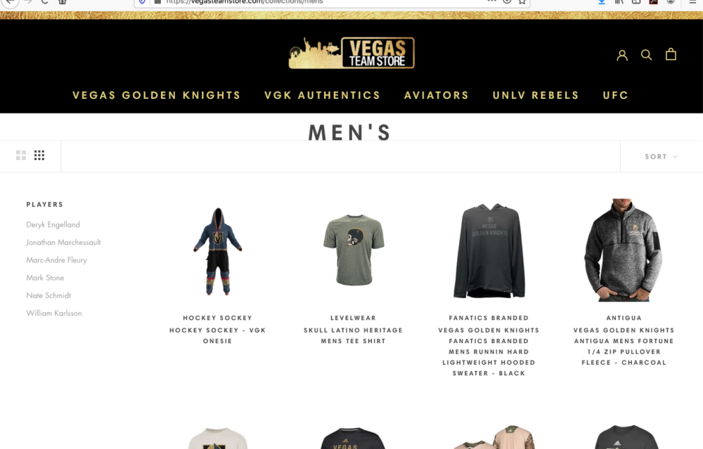 VGK Site - Category Page