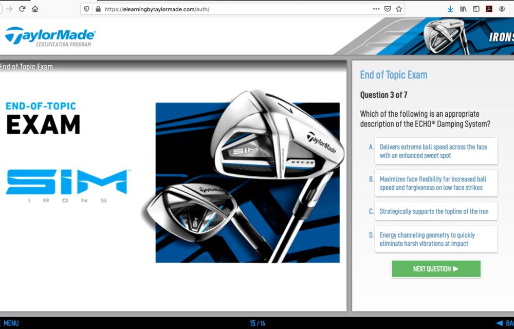 TCP Spring 2020 Screen Shot - Iron Exam